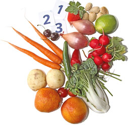 image of vegetables that can be used for counting