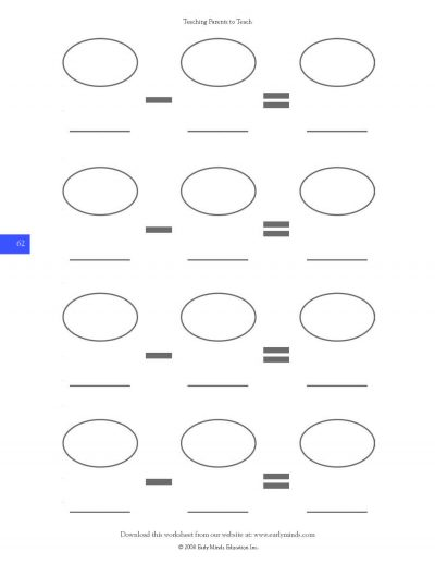 subtraction worksheet page 62 from Teaching Parents How To Teach
