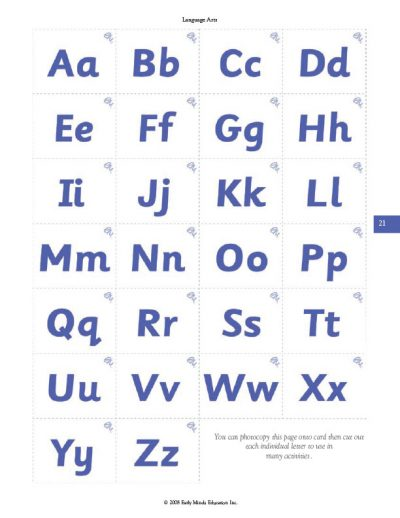 image of alphabet cards from Teaching Parents How To Teach