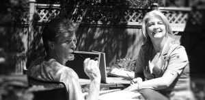 Image of Jill and David working outside.