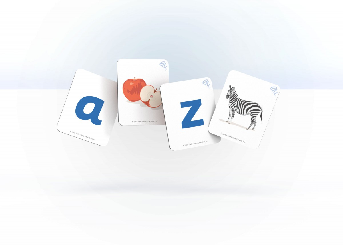 Sample image of the Alphabet cards