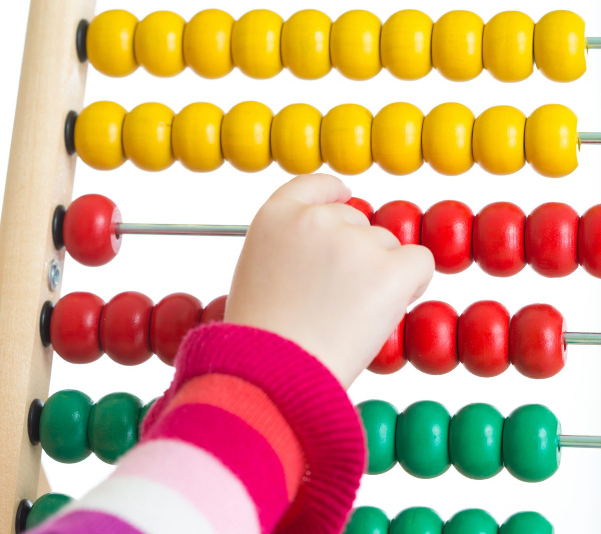 Abacus and child